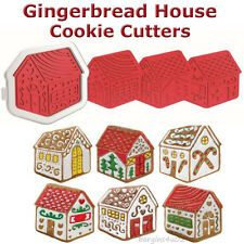 Christmas Gingerbread House Cookie Cutters, Tovolo Xmas Baking Decorating - New