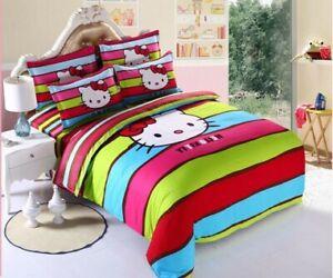 Kids Hello Kitty New 2020 Bedding Duvet Quilt Cover Bedding Set Twin Full Queen