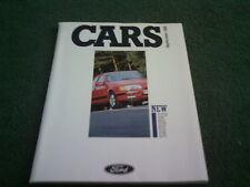 September 1988 FORD CARS ALL MODEL CATALOGUE Fiesta Escort Sierra XR4x4 BROCHURE