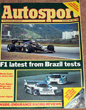 Autosport 26/1/84* 1983 ENDURANCE RACING REVIEW - MONTE CARLO RALLY -PARIS DAKAR
