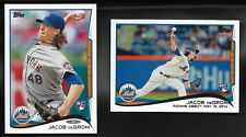 2014 Topps Update # US-50 & US-57 JACOB DeGROM RC Rookie Card LOT (2) Mets