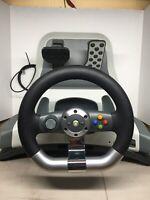 Microsoft Xbox 360 Wireless Racing Wheel Force Feedback Steering Wheel & Pedals