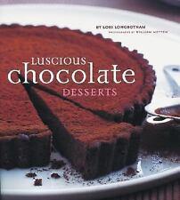 Luscious Chocolate Desserts Lori Longbotham Cookbook HCDJ Excellent