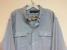 NWT $89.50 Men's Polo Ralph Lauren Long Sleeve Blue Oxford Shirt Size XXL 👍