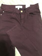 "MNG BY MANGO ""Paty"" Maroon Wine Color Skinny Jeans Jeggings Denim Pants US 6"