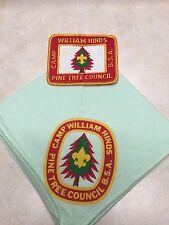 Camp William Hinds Orange Patch & Green Neckerchief