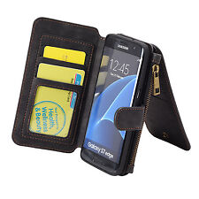 Luxury Coach Flip Wallet PU Leather Phone Pouch Case For Samsung Galaxy S7 Edge