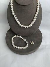 PEARL x SHED Freshwater Semi Barqoue Pearl Set - Necklace, Bracelet & Earrings