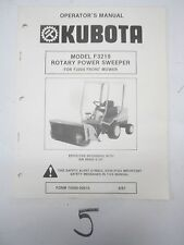 KUBOTA F2000 F2400 FRONT MOWER F3219 ROTARY POWER SWEEPER BROOM OPERATORS MANUAL