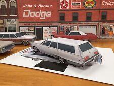 Papercraft 1968 Dodge Polara Station Wagon Paper Car E Z U-build ToyModelCar
