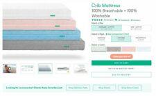 Newton Baby - Crib Mattress100% Breathable + 100% Washable (Grey)Standard Size