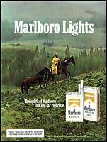 1984 Cowboy horseback Marlboro cigarettes horse vintage photo print Ad  ads10