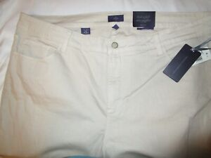 New With Tags NYDJ Not Your Daughters Jeans Ankle Pants Sz 20 W  Stone