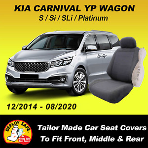 Car Seat Covers Fit KIA CARNIVAL YP Front Middle & Rear 2014-08/2020 Airbag Safe
