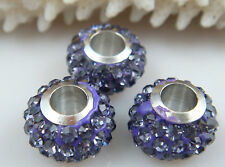 3PCS Listing High Quality CZ Crystals Beads fit European Charm Bracelet 6ifc