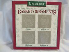 New 1985-1988 Longaberger Collectible Pewter Basket Ornaments Original Boxes New