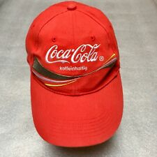 """Vintage Coca Cola Hat Germany German Koffeinhaltig Red """"Caffinated"""" Foreign 59a54e11ecbc"""