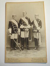 Hannover - ca 1901 - 3 Studenten in Chargenwichs - KAB Hartwig / Corps Macaria ?
