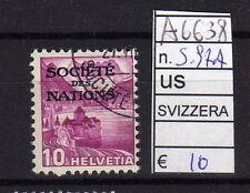 FRANCOBOLLI SVIZZERA SERVIZI USATI N°97A (A6638)
