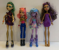 Monster High Doll Lot Of 4 Mattel Dolls with Clothes