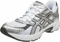 ASICS White Pink Silver Running Gel Strike Shoes SNEAKERS T9D9N Women's Size 8