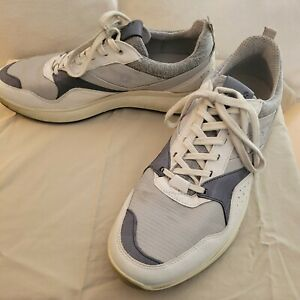 Ecco M Golf S-Casual Golf Shoes White Yak Leather Size 11