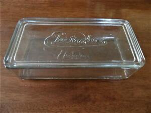 VINTAGE RETRO 1920s-1950s LARGE ELECTROLUX DEPRESSION GLASS FRIDGE STORAGE BOX