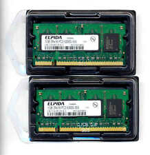 Elpida 2 x 1GB EBE11UE6ACUA-6E-E PC2-5300S 555 667MHz Laptop DDR2 RAM SODIMM 2GB