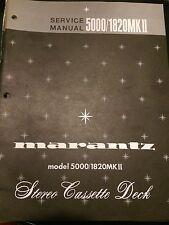 Original Marantz Model 5000/1820MKII Mk2 Service Manual