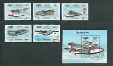 Cambodia Scott # 1247-1252 Used/CTO Seaplanes