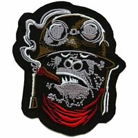 Gorilla General With Bandanna Smoking Cigar Embroidered Iron On Patch