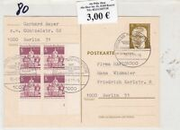 Germany Berlin 1989 Inter. Airport Slogan Cancels Multiple Stamps Card Ref 24462
