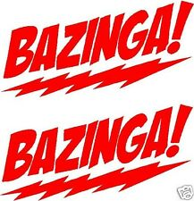2X Bazinga! Big Bang Theory Funny Car Truck Window Vinyl Decals Stickers