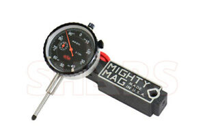 """Mighty Mag 400-1 Universal Magnetic Base + 0 - 1"""" Dial Indicator USA P]"""