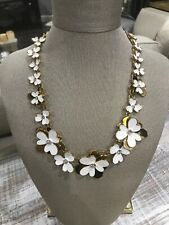 With Crystals Necklace Large New York Kate Spade Nwot White Daisy And Gold