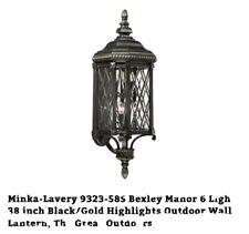 "Minka-Lavery 9323-585 Bexley Manor Outdoor Wall Lights Black/Gold 6-Light 26"""