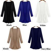 Women's Cardigan Duster Long Sleeve Sweater Jumpers Coat Jacket Plus Size M-4XL