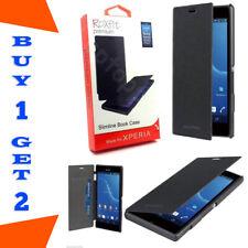 Roxfit Slim Flip Case With Card Holder Xperia M2 Aqua M2 Black BUY 1 GET 2 FREE