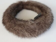 Mink Headband fur Neck Hair Jewelry Alice Band Kohinoor Black cross Taupe Grey