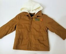 COOGI Brown Zip Up Jean Jacket with Removable Hoodie Baby/Toddler Size 3T NWOT