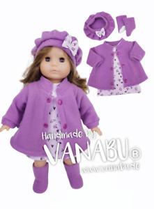 VANABU® Puppenkleidung 4-teiliges Set für 36 cm - 38 cm Baby Puppen NEU