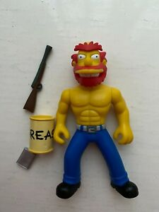 PLAYMATES INTERACTIVE THE SIMPSON SERIES 8 RAGIN GROUNDSKEEPER WILLIE FIGURE WOS