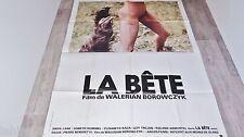 LA BETE   !  walerian borowczyk affiche cinema horreur  1975 model rare