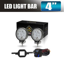2X 27W 4inch Flood LED Work Light Round Lamp Fog For Offroad ATV Truck SUV Boat