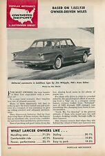 1961 Dodge Lancer Owners Report Testing Driver Tests Reviews Survey Car Auto