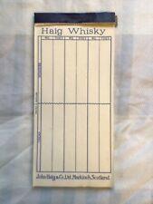 More details for vintage haig whisky promo bridge score pad