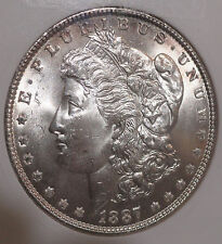 1887 Morgan Silver Dollar. ANACS MS63. Beautiful Collector Coin For Your Set.