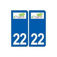 22 Plouguenast logo ville autocollant plaque sticker droits