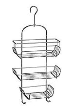 3-Tier Chrome Wire Shower Caddy (52 x 25 x 11 cm) - Silver