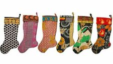 Indian Handmade Recycled Vintage Kantha Christmas stockings Wholesale 30 Piece